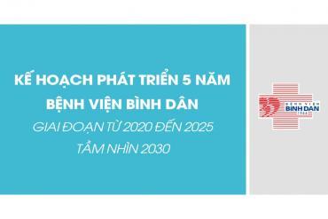 Kế hoạch phát triển 5 năm Bệnh viện Bình Dân (2020 - 2025) - Tầm nhìn 2030