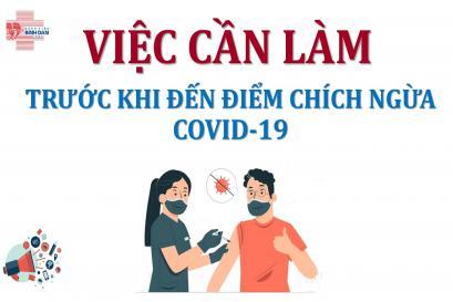 Việc cần làm trước khi đến điểm tiêm ngừa COVID-19