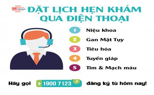 Đặt lịch hẹn khám qua điện thoại - Tổng đài 19007123