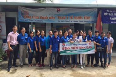 Khám và phát thuốc miễn phí cho gần 200 người dân nghèo xã Hiệp Phước, Nhà Bè