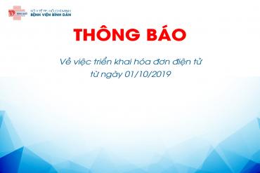 Thông báo Triển khai hóa đơn điện tử từ ngày 01/10/2019