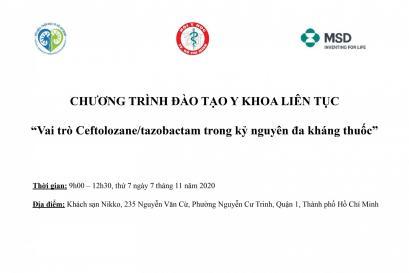 """Chương trình đào tạo y khoa liên tục """"Vai trò Ceftolozane/tazobactam trong kỷ nguyên đa kháng thuốc"""""""